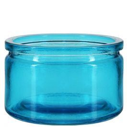 4oz calypso glass jar aqua