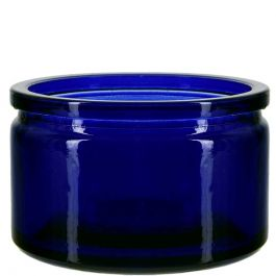 4oz calypso glass jar cobalt blue