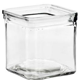 8.5oz square candle glass container