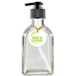 Roma 8.5oz Recycled Glass Lotion or Soap Bottle - Clear