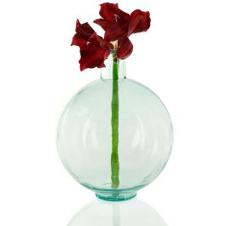 """17"""" Recycled Glass Globe Vase"""