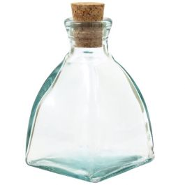 6.8oz Diamond Recycled Glass Bottle - Clear