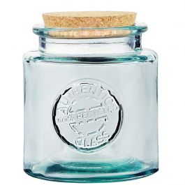Authentic jar recycled glass 500ml. with cork