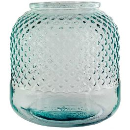 "7 1/2"" Diamond Recycled Glass Container"