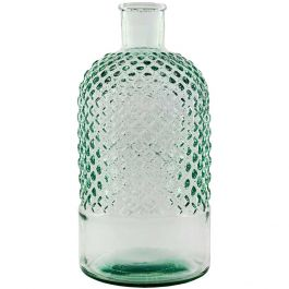 "11"" Diamond Recycled Glass Bottle"