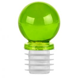 """1 1/4"""" ball glass top closure for 3/4"""" opening lime"""