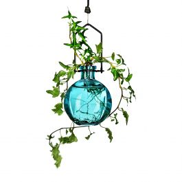 Hanging Ball Recycled Glass Rooting Vase - Aqua