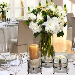 London Three Recycled Glass Vase Set